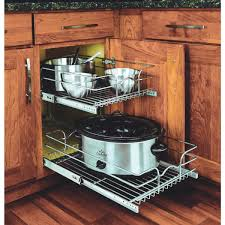 rev a shelf rev a shelf 2 tier pull out cabinet organizer 59 15c