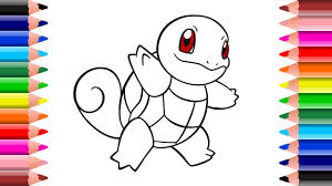 pokemon squirtle coloring pages for kids setoys youtube