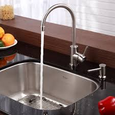 Kitchen Faucet With Soap Dispenser Stainless Steel Kitchen Sink Combination Kraususa Com