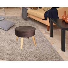 Foot Ottomans 13 5 In Brown Suede Mid Century Foot Stool Hb4663 The Home Depot