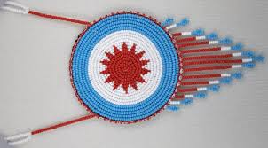 beaded medallion necklace images Cherokee indian and styled beaded rosette necklaces page 1