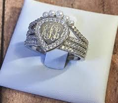 monogram ring silver monogram ring monogram stackable ring gold monogram ring