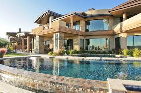 Luxury Exterior Homes - classic luxury house with pool glass windows mansion home designs