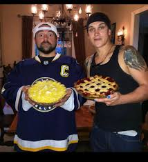 kevin smith wearing his backes 3rd on thanksgiving stlouisblues