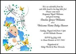 welcome home baby shower baby shower clouds butterflies boy welcome home invites at