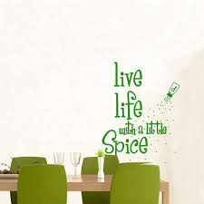 home spice decor live life with a little spice bottle wall decal removable art home
