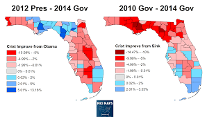 Florida Map Counties how and why crist lost in florida u2013 mci maps