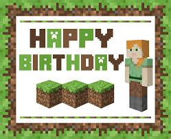minecraft birthday card u2013 gangcraft net