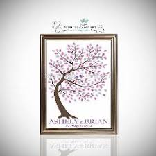 tree signing for wedding 40x60cm signature fingerprint tree wedding guest book personalize