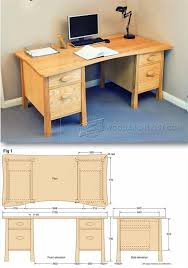 Building Wooden Computer Desk by Computer Desk Plans Office Furniture