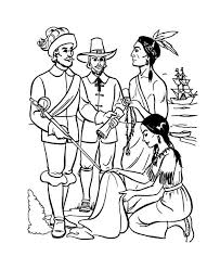 early pilgrim plymouth colony thanksgiving day history coloring
