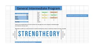 bench routines greg nuckols general intermediate program google sheets