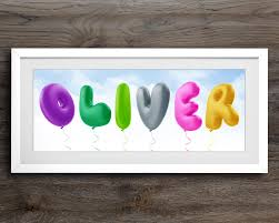 Personalised Baby Nursery Decor Balloon Alphabet Childrens Name Baby Room Decor