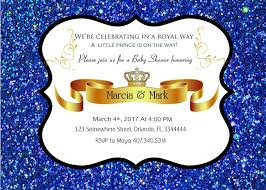 little prince baby shower invitation prince baby shower royal