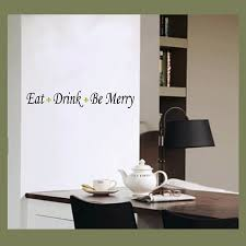 kitchen wall art eat drink be merry