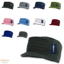 jeep hat gi cadet army military flat top jeep caps hat ribbed knit visor