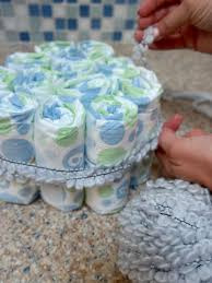 easy instructions for making a diaper cake hgtv