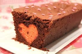 recette cuisine gateau chocolat gâteau au chocolat aux coeurs cachés pour la valentin pour