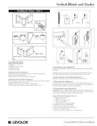 Levelor Blind Parts Vertical Blinds Shades Installation Instructions