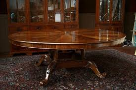 round dining room tables with self storing leaves fabulous expanding round dining room table ideas impressive