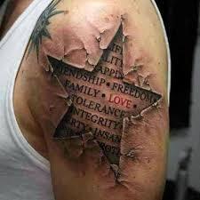 de 16 bästa small shooting star tattoos for men chest bilderna på