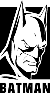 batman head clipart black white collection