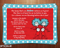 thing 1 and thing 2 baby shower baby shower invitations thing 1 thing 2 etsy