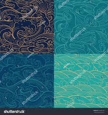 traditional oriental seamless contour color patterns stock vector