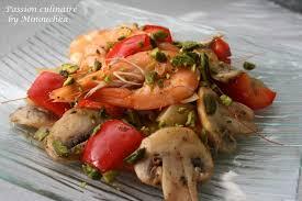 cuisine erotique cuisine aphrodisiaque poêlée relevée de crevettes à la pistache