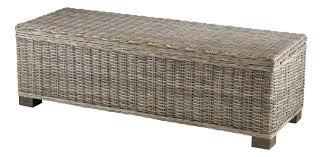 coffre de chambre bout de lit coffre en kubu 130 cm grenier alpin