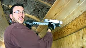 how to install bowed 1x7 tongue and groove pine on the ceiling