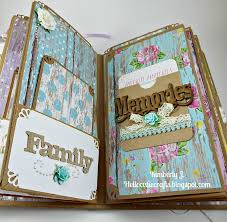 magnetic page photo album s crafty spot shabby chic girly mini album