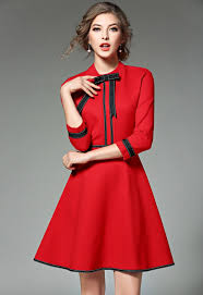 Aliexpresscom  Buy New Ladies Fashion Red Christmas Dress 2018