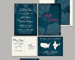 indian wedding invitations usa henna rsvp cards etsy