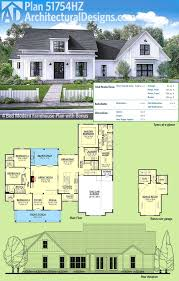 farmhouse floor plan plan 51754hz modern farmhouse plan with bonus room farmhouse floor