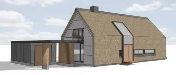 schuurwoning met rieten dak in buitengebied bij epse huizen