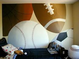 sports murals for bedrooms big sports ball mural perfect for my little mans room cool