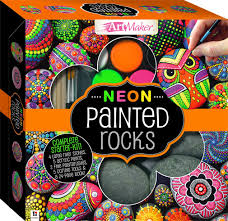 paint your own neon stones kit craft kits craft adults