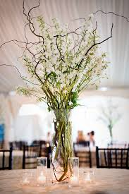 curly willow branches real weddings matt branch centerpieces centerpieces
