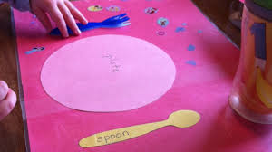 thanksgiving placemat for kids how to make a fun kids placemat table setting diy home tutorial