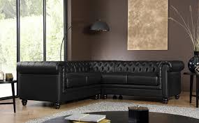 Black Leather Corner Sofa Hton Chesterfield Black Leather Corner Sofa Only 1099 99