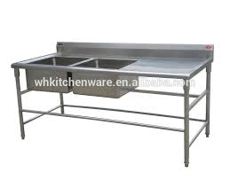 Stainless Steel Bench With Sink Assemble Two Tier Floding Sink Bench Stainless Steel Kitchen Work