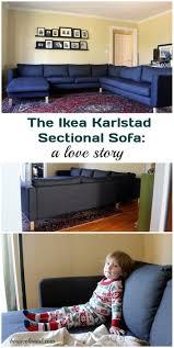Karlstad Sofa Bed Slipcover Isunda Gray by Our New Ikea Karlstad Sectional A Love Story