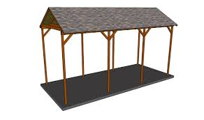 carport plans attached to house how to build a wooden carport youtube