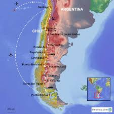 Patagonia South America Map by North To South Panoramic Patagonia Journey Through Carretera
