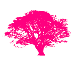 pink tree clip at clker vector clip royalty