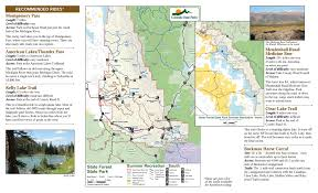 Colorado Road Map State Forest State Park Outthere Colorado