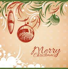 retro style merry christmas card vector clipart image 37328
