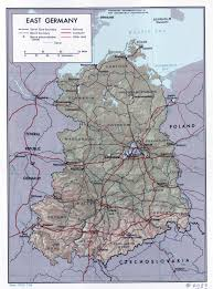 Map Of Germany Cities by Large Political And Administrative Map Of East Germany With Relief
