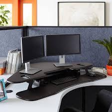 Standing Corner Desk Height Adjustable Standing Corner Desk Deboto Home Design
